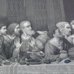 Il cenacolo in seta, particolare