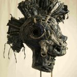 opera-artista-afran-con-riciclo-tessuti-denim